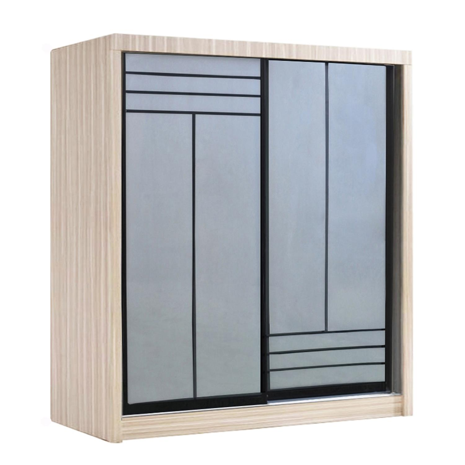 LIVING MALL_Kenzo Sliding Wardrobe_5 FT Sliding Wardrobe_FREE DELIVERY