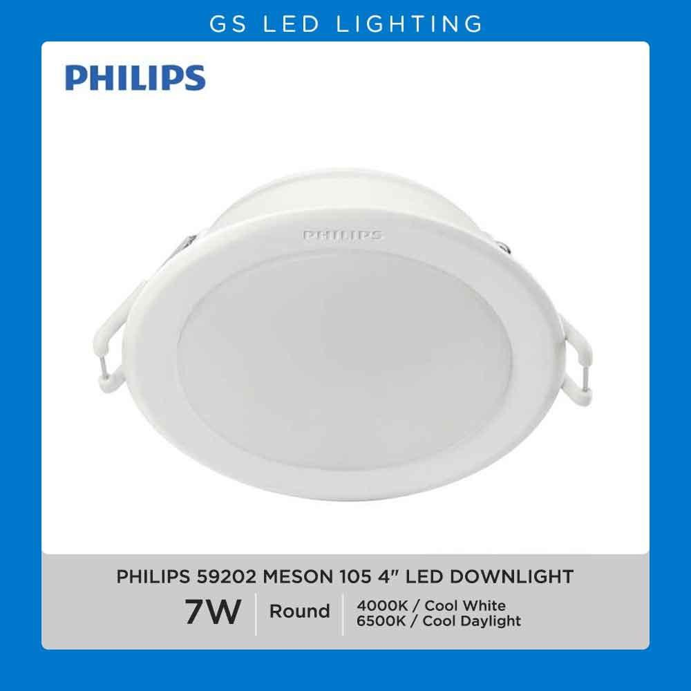 4 PCS Philips Essential 4 inch 7W LED Downlight Meson 59202 4000K & 6500K