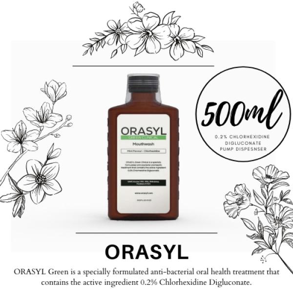 Buy ORASYL GREEN MOUTHWASH (500ML) 0.2% Chlorhexidine Digluconate Singapore
