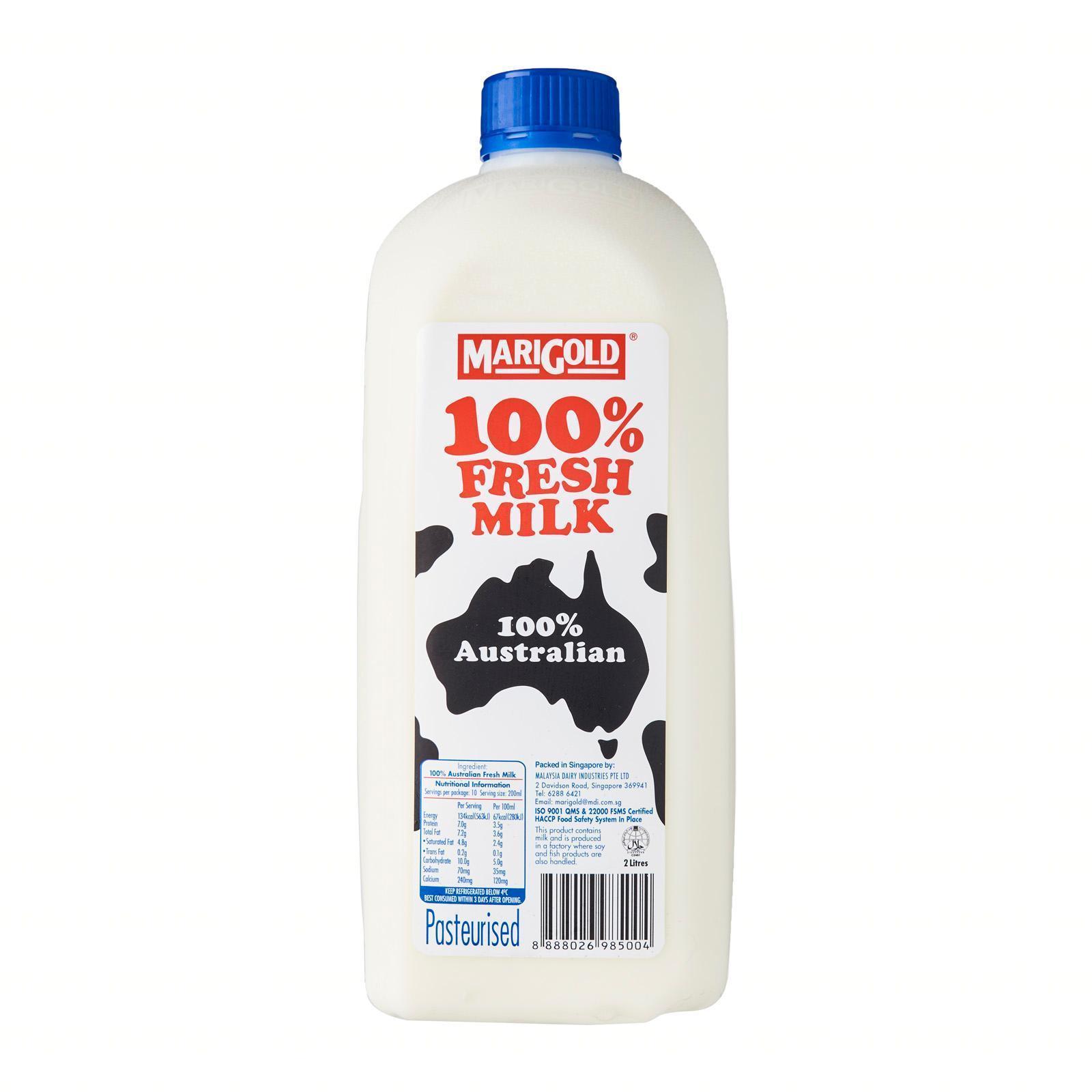 MARIGOLD 100% Fresh Milk Plain 2L