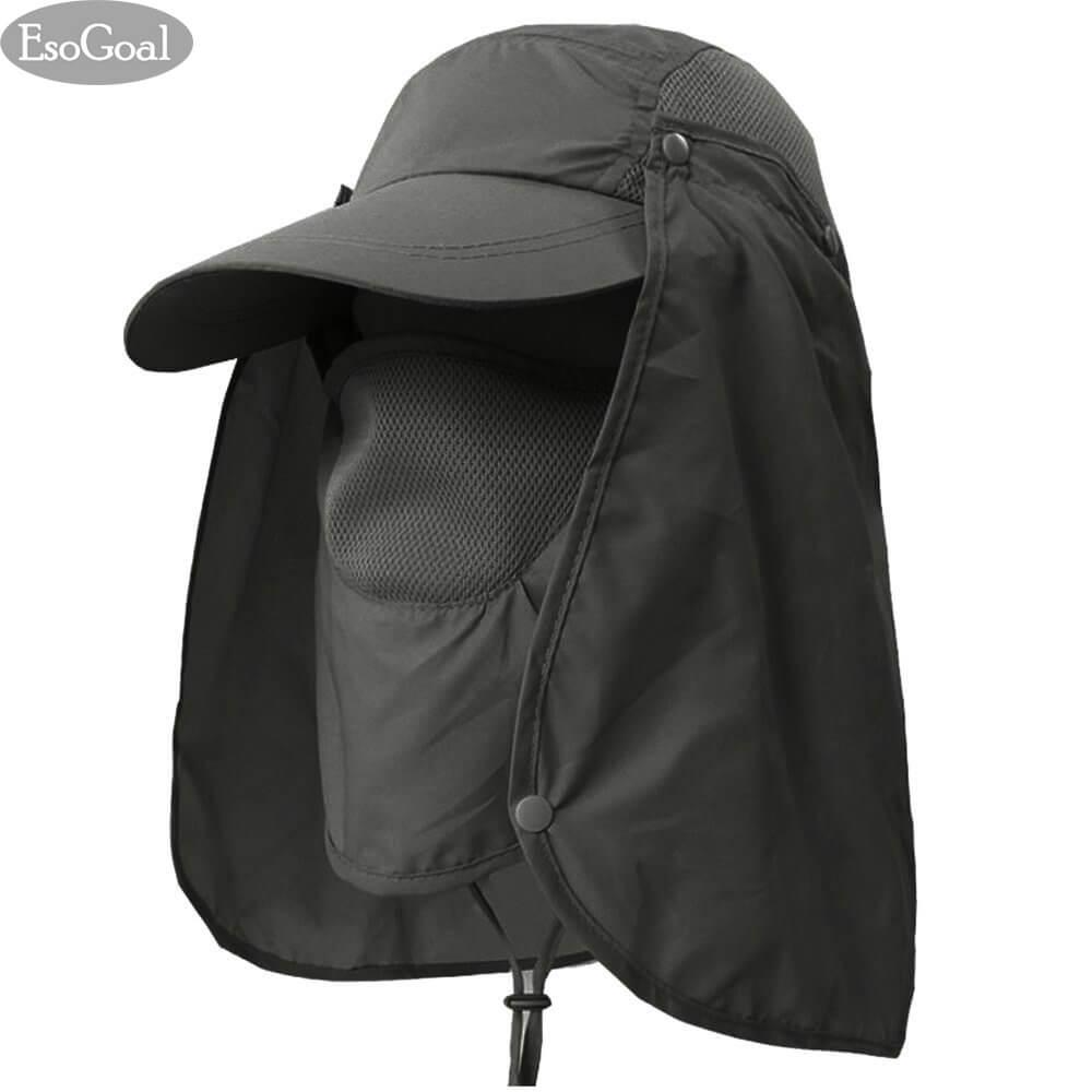 3c1958d8 EsoGoal Summer Sun Hat Protection Caps Flap 360°Outdoor Fishing Hat With  Removable Neck Face