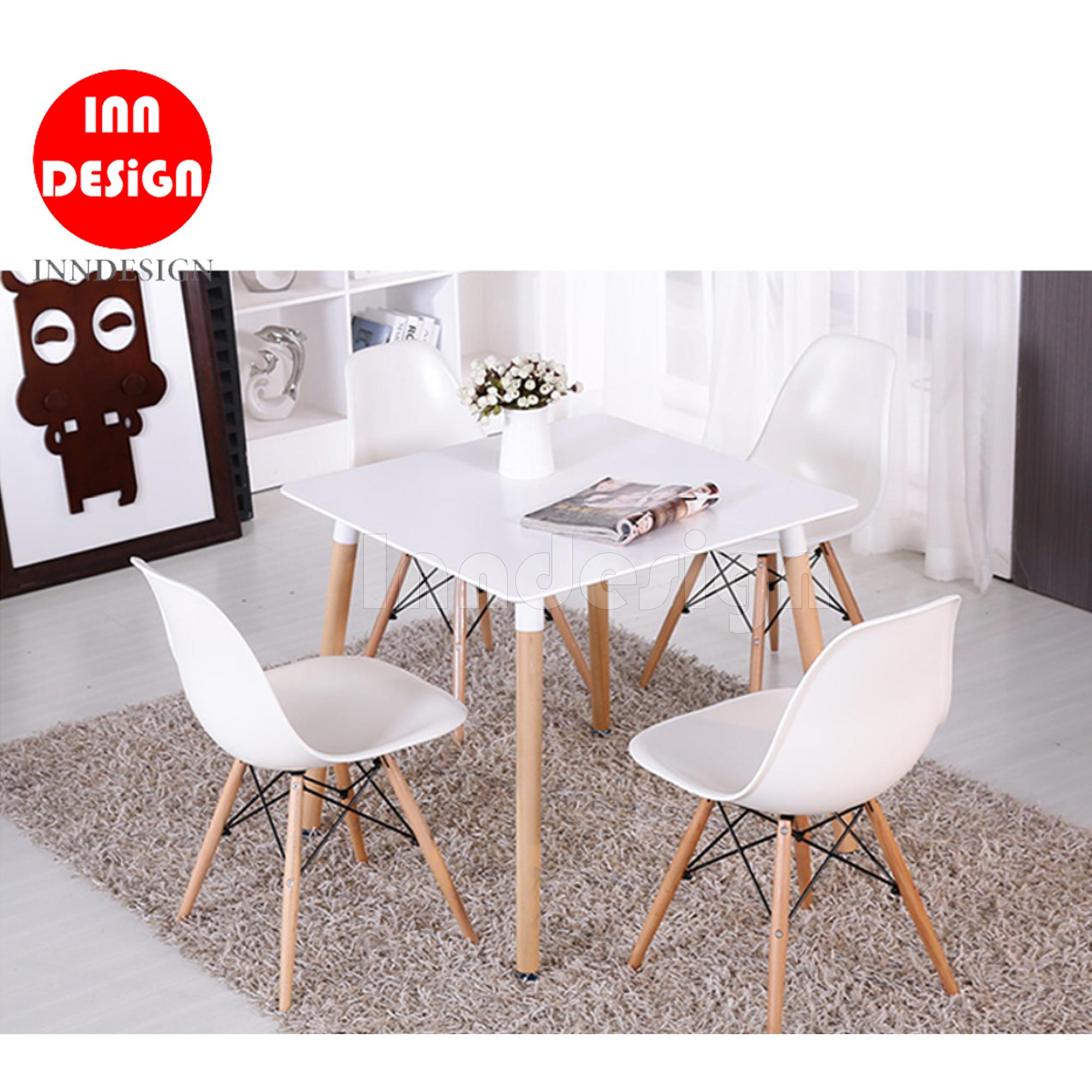 Eames Hans Square 1+4 Dining Set