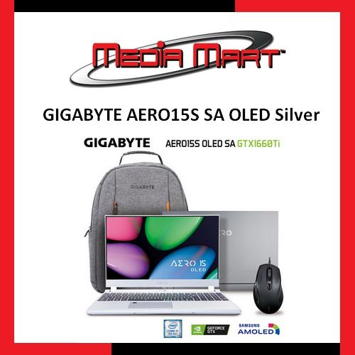GIGABYTE AERO15S SA OLED Silver