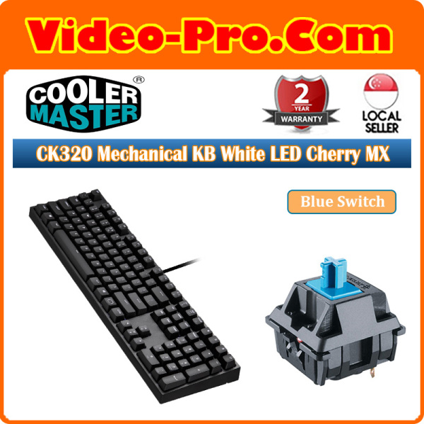 Cooler Master CK320 Mechanical Keyboard White LED Cherry MX Blue\Brown\Red Switch 2-Years Singapore