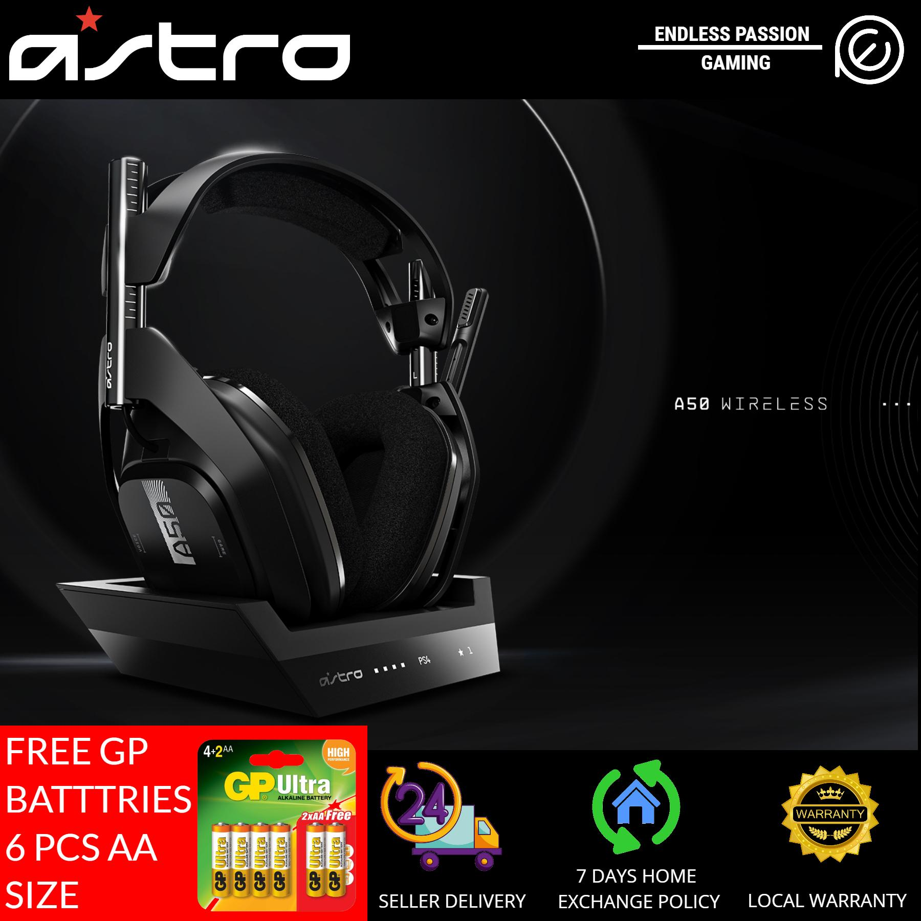 Astro A50 Wireless Gen 4 Black Gaming Headset Plus Base Station for PS4/PC