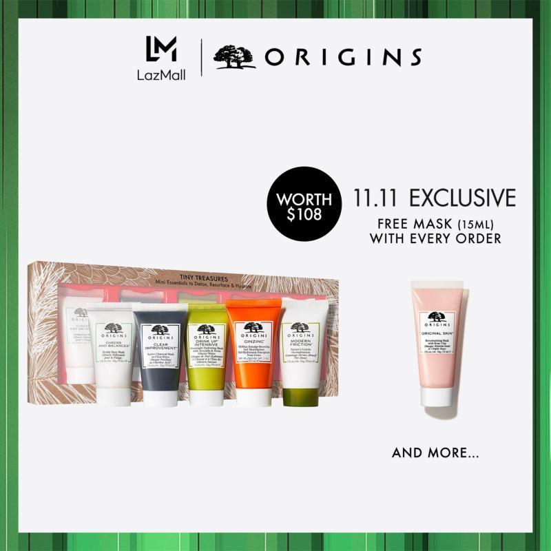 Buy [Limited Edition] Origins TINY TREASURES: Mini Essentials to Detox, Resurface & Hydrate  (Worth $108) Singapore