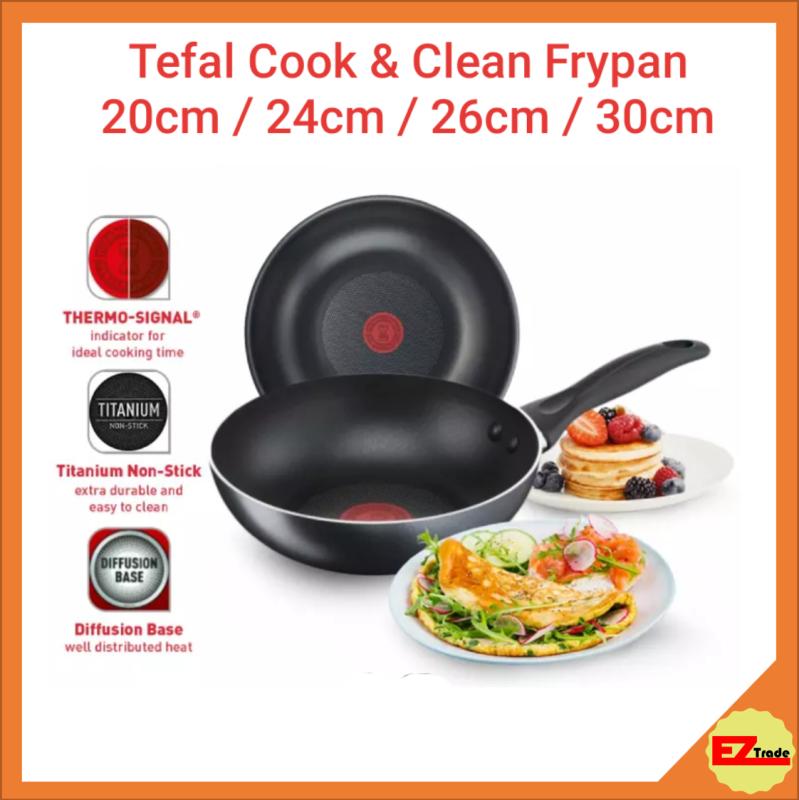 Tefal Cookware Cook & Clean Frypan Frying Pan 20cm / 24cm / 26cm / 30cm Singapore