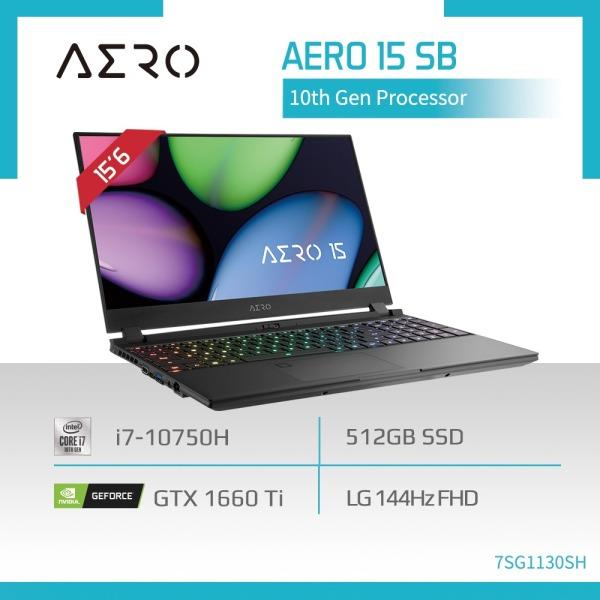 GIGABYTE AERO 15 SB (i7-10750H/16GB DDR4 2933 (8GBx2)/GeForce GTX 1660 Ti GDDR6 6GB/512GB M.2 PCIE SSD/15.6inch Thin Bezel 144Hz FHD Display/WINDOWS 10 HOME) [Ships 2-5 days]