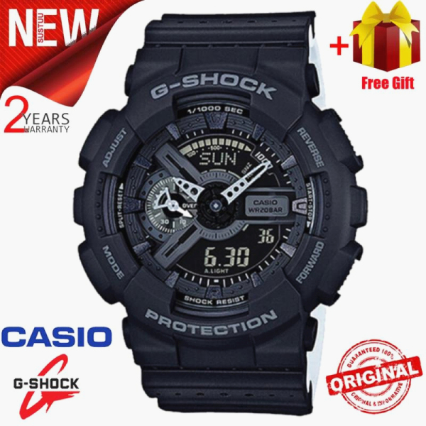 (Ready Stock) Original  G Shock GA-110LP-1APR Men Sport Watch Duo W/Time 200M Water Resistant Shockproof and Waterproof World Time LED Auto Light Wist Sports Watch with 2 Year Warranty GA110 GA-110 Malaysia