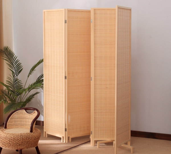 [6 panels]Minimalist Japanese Portable Divider Partition with Base Stand