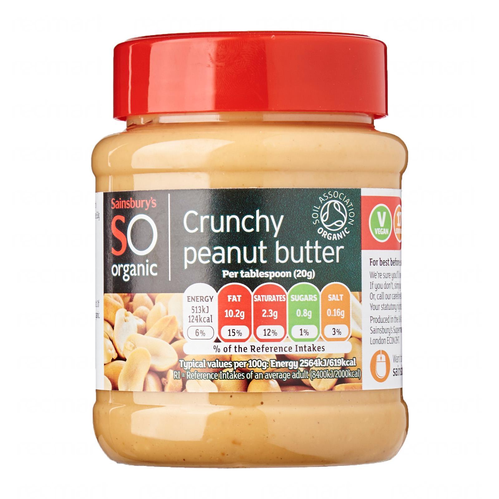 Sainsbury's Organic Peanut Butter Crunchy