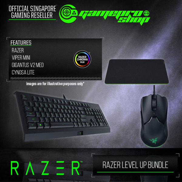 Razer Level UP Bundle (Cynosa Lite keyboard+Viper Mini Mouse+Gigantus v2 Medium) - RZ85-02741200-B3M1 (2Y) Singapore