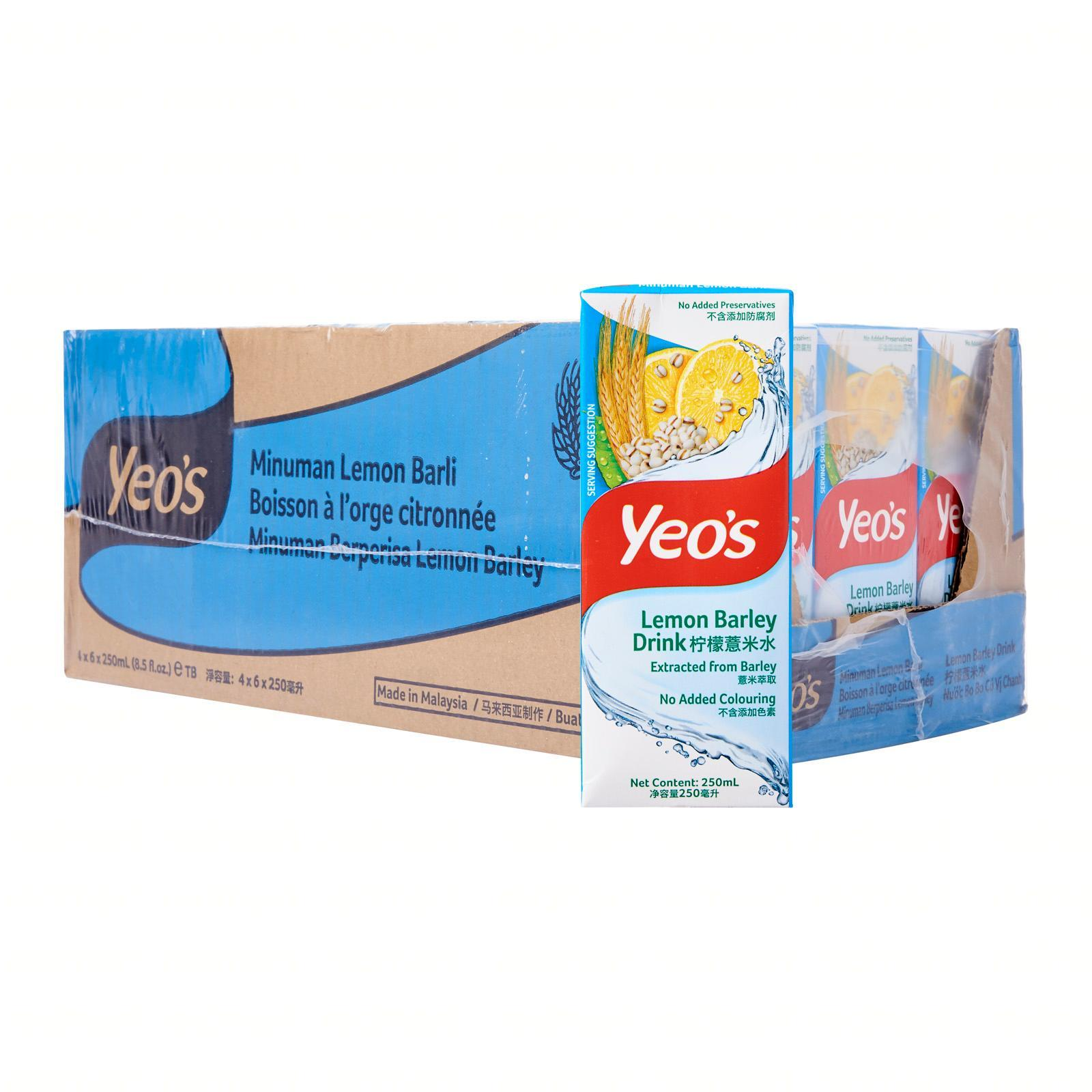 Yeo's Lemon Barley Drink - Case