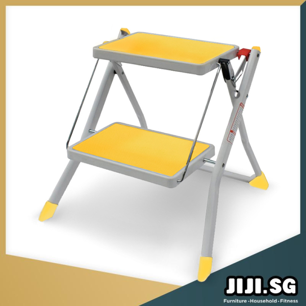 (JIJI SG) Stepper Ladder (2 Steps) -  Foldable / Max Load 150KG / 2 Steps / Compact Storage / Household / (SG)