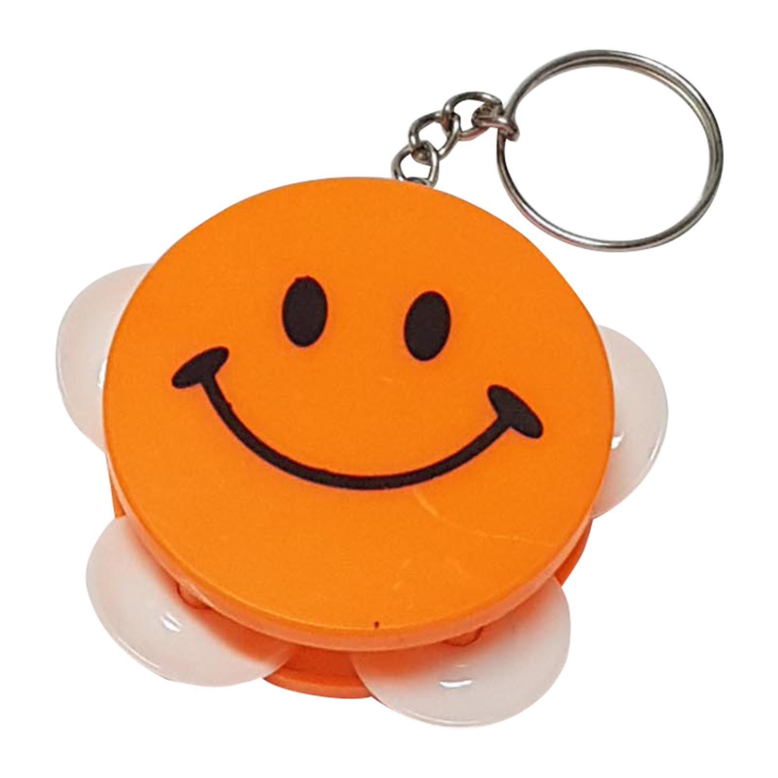 OEM 4.5 Cm Tambourine Keychain - Orange