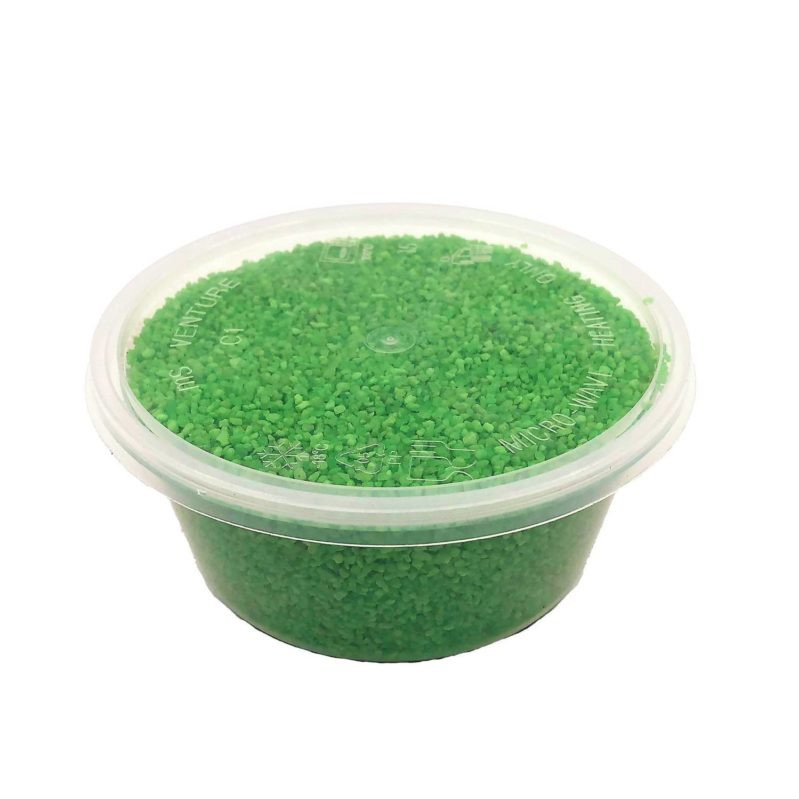 Green Colour Sand (Small Box, 600g, 0.5 liter) perfect for terrariums