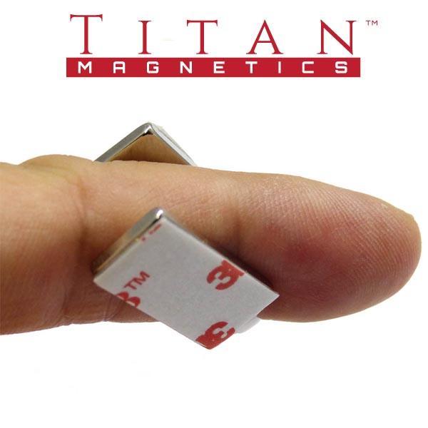 Block Neodymium Magnets With 3m Vhb Foam Adhesive, N35 20x10x2mm 4pcs/pack By Titan Magnetics