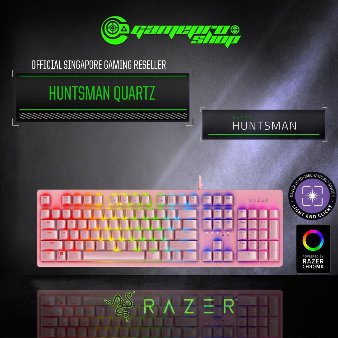 Razer Huntsman OPTO - Mechanical Gaming Keyboard (Black / Quartz / Mercury White) Singapore