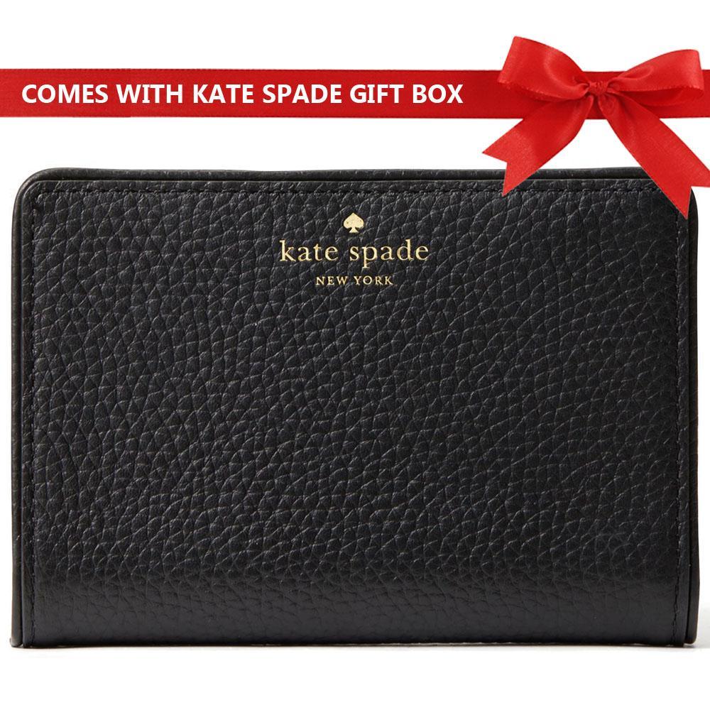 e6c9b2b6f01d Kate Spade Wallet In Gift Box Small Wallet Chester Street Tellie Black    WLRU3047 + Gift Receipt