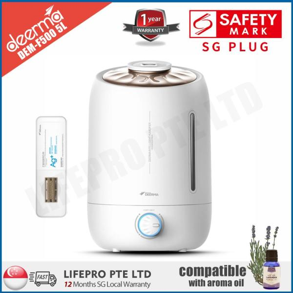 [Lifepro Special] 德尔玛/Deerma DEM-F500 F500 5L Ultrasonic Humidifier/ Compatible with Essential Oil/ SG Plug/ Up to 12-month SG Warranty Singapore