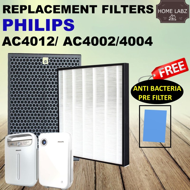 Philips AC4012/AC4002/AC4004 Compatible filters (AC4123 AC4124) FREE Anti Bacteria Pre Filter Singapore