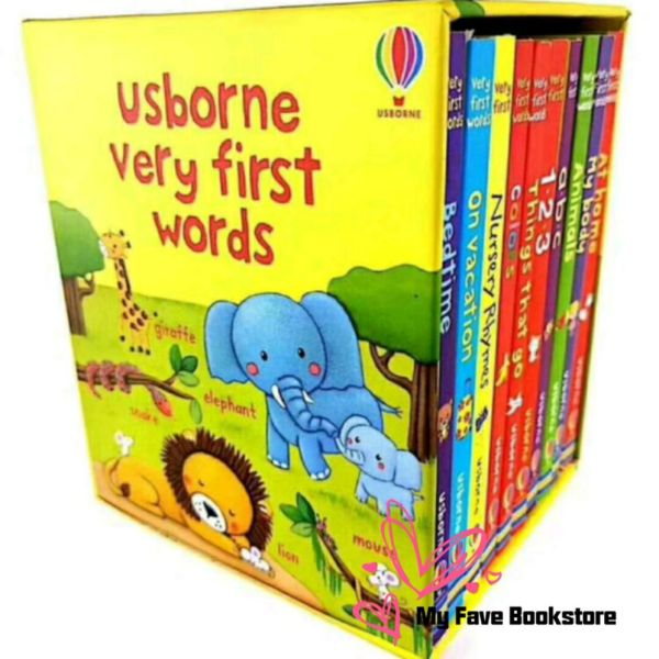 [SG Stock] 10bks Usborne Very First Words Box Set