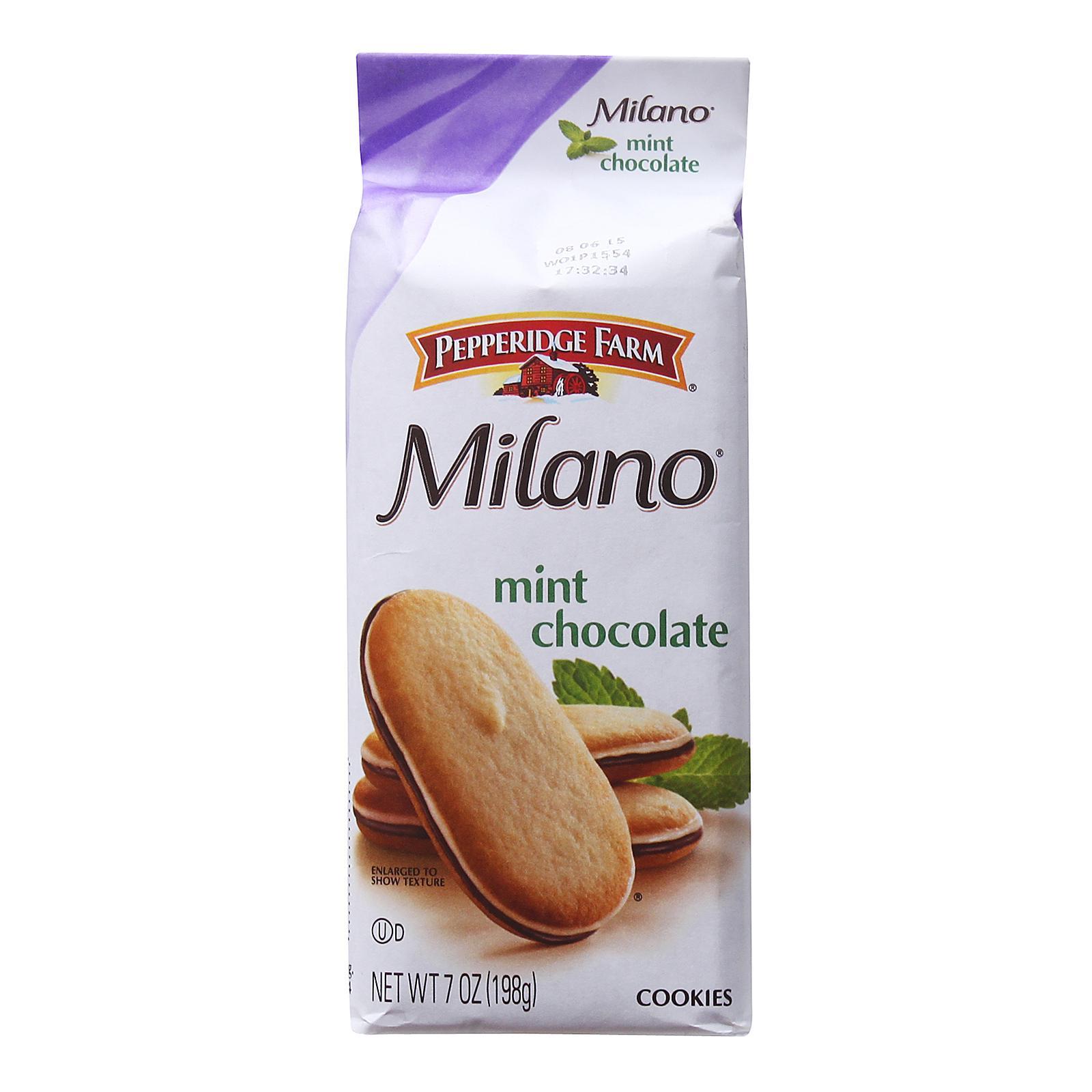 Pepperidge Farm Mint Chocolate Milano Distinctive Cookies