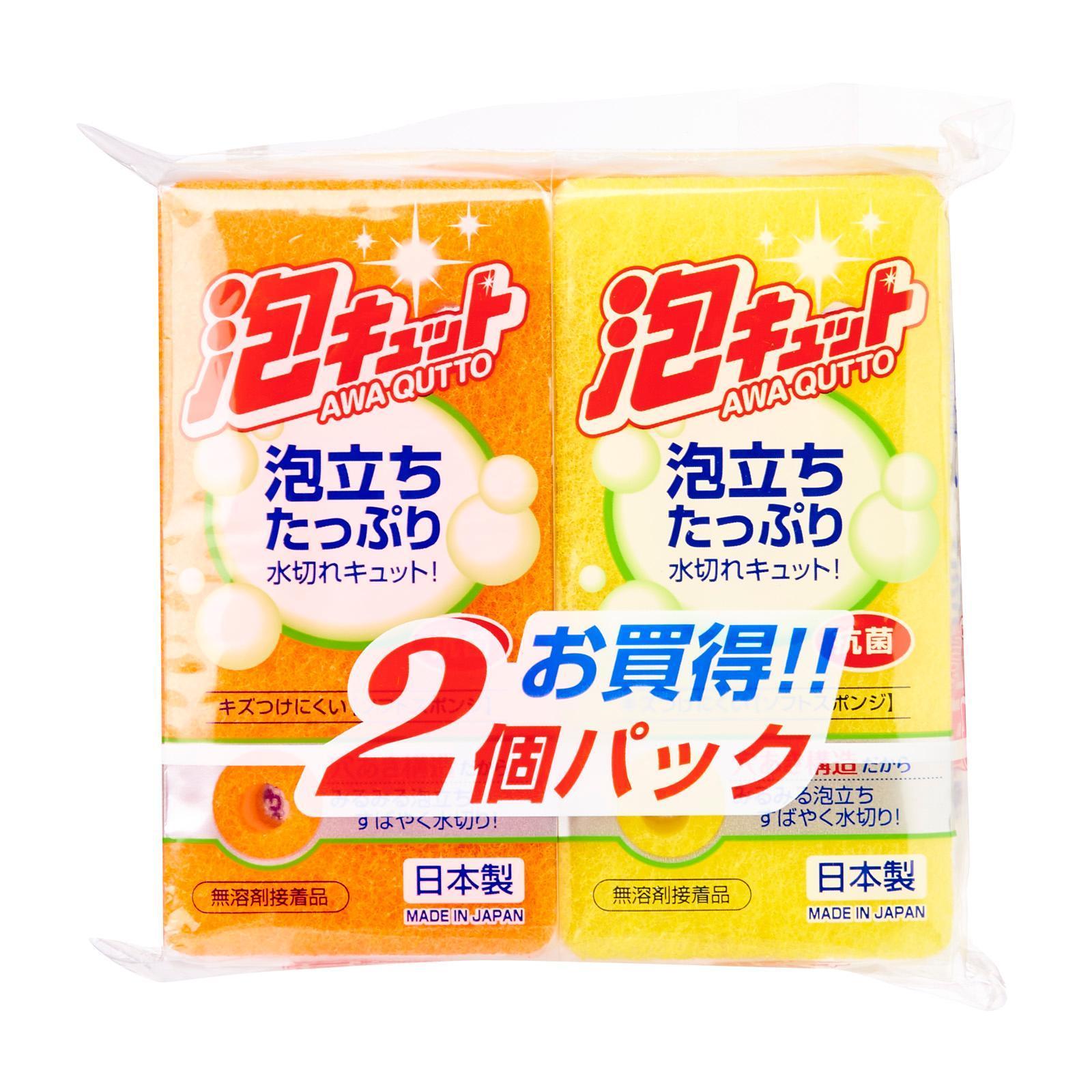 OHE & CO. Awa Qutto Soft Sponge 2Pcs Set