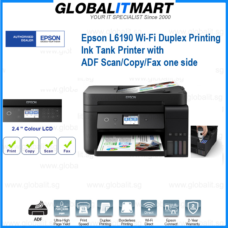 Singapore Warranty Epson L6190 Business Wi Fi Duplex All In One Ink Tank Inkjet Printer With