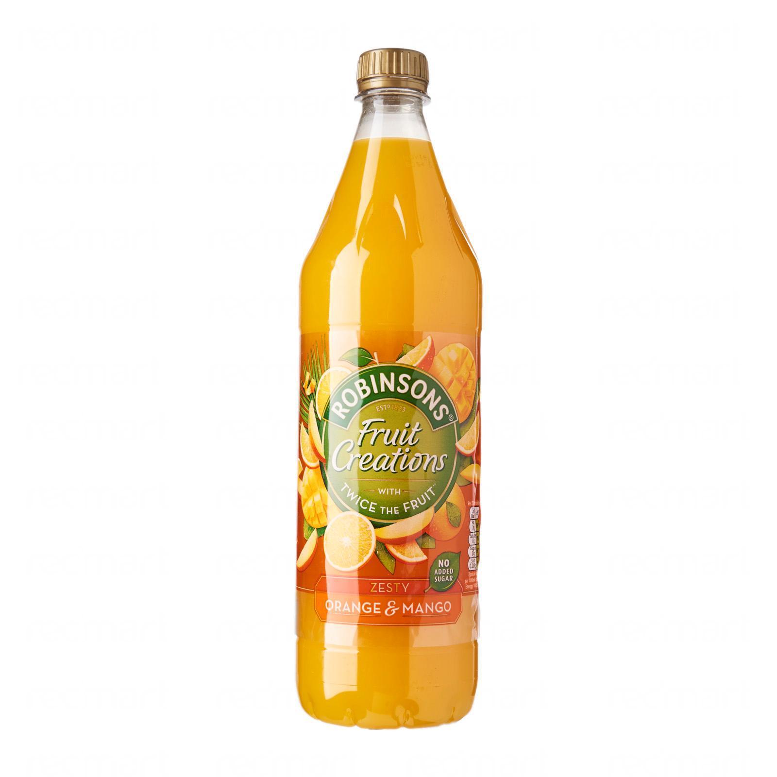 Robinsons Fruit Creations Zesty Orange And Mango Juice