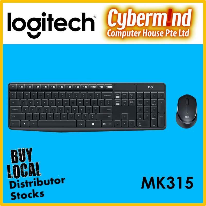 (Back to School / Back to Work PROMO Till 20Jan2019) Logitech MK315 Silent Wireless Keyboard and Mouse Combo (Local Distributor Stocks) Singapore