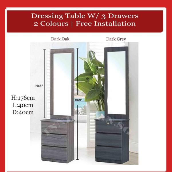[Delivery Within 2-5 Days] Edden 2019 New Arrival Full View Mirror Dressing Table (Free Delivery and Installation) (Delivery Within 1 Working Day)