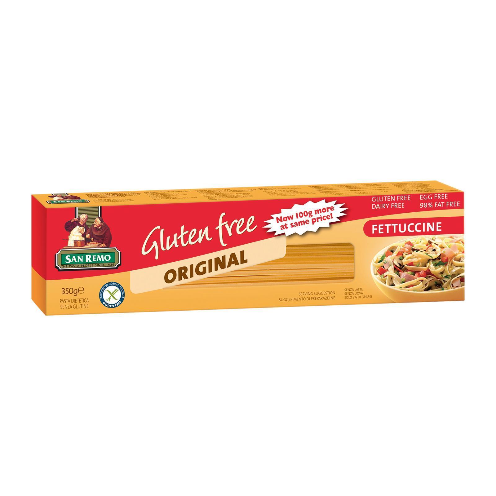 San Remo Gluten Free Fettucine Pasta By Redmart.