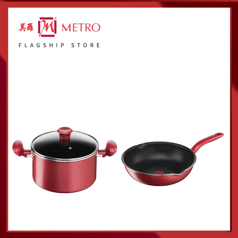 Tefal So Chef C W Set Deep Frypan 24cm + Stewpot 22cm (G13584 + G13545) Singapore