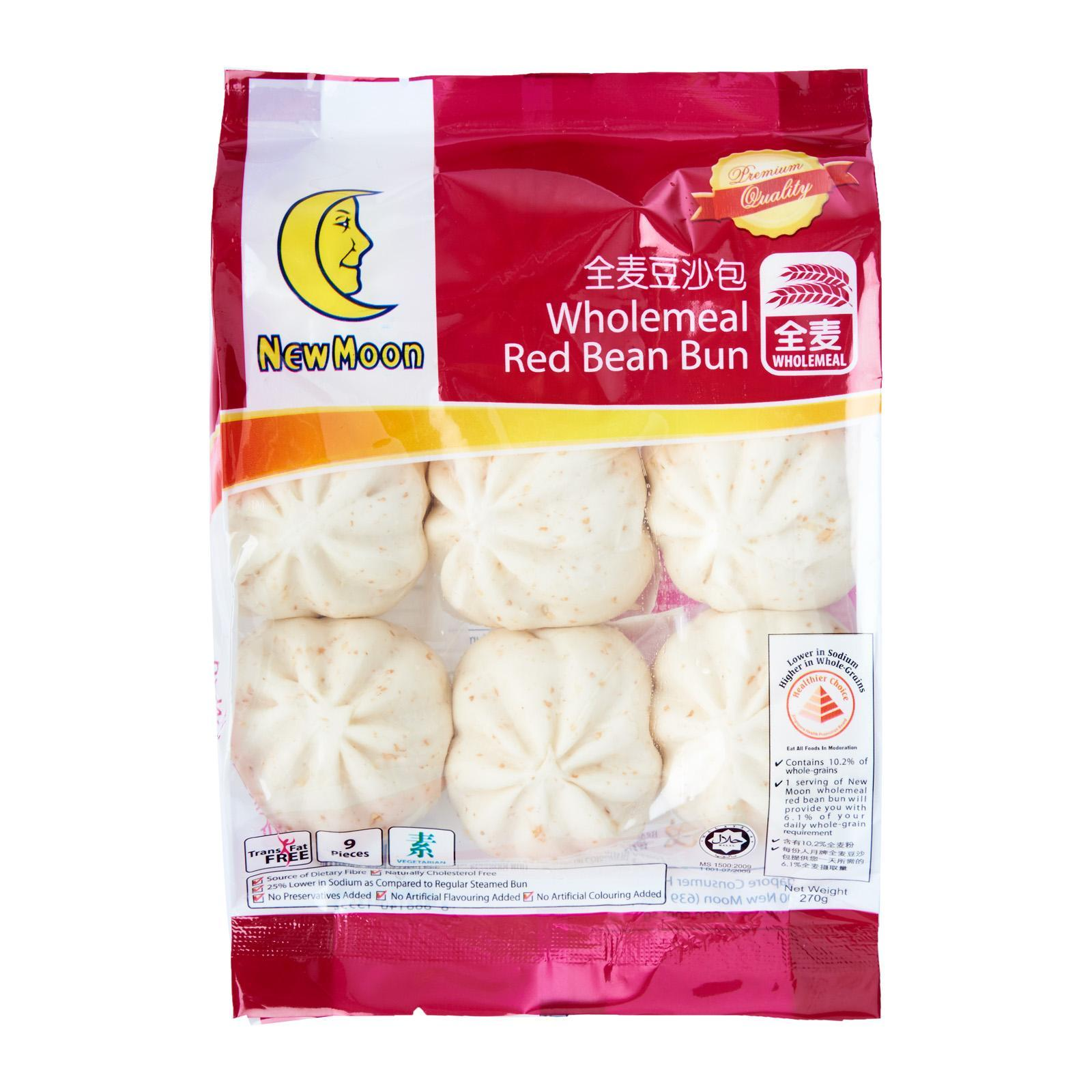 New Moon Wholemeal Red Bean Bun - Frozen By Redmart.