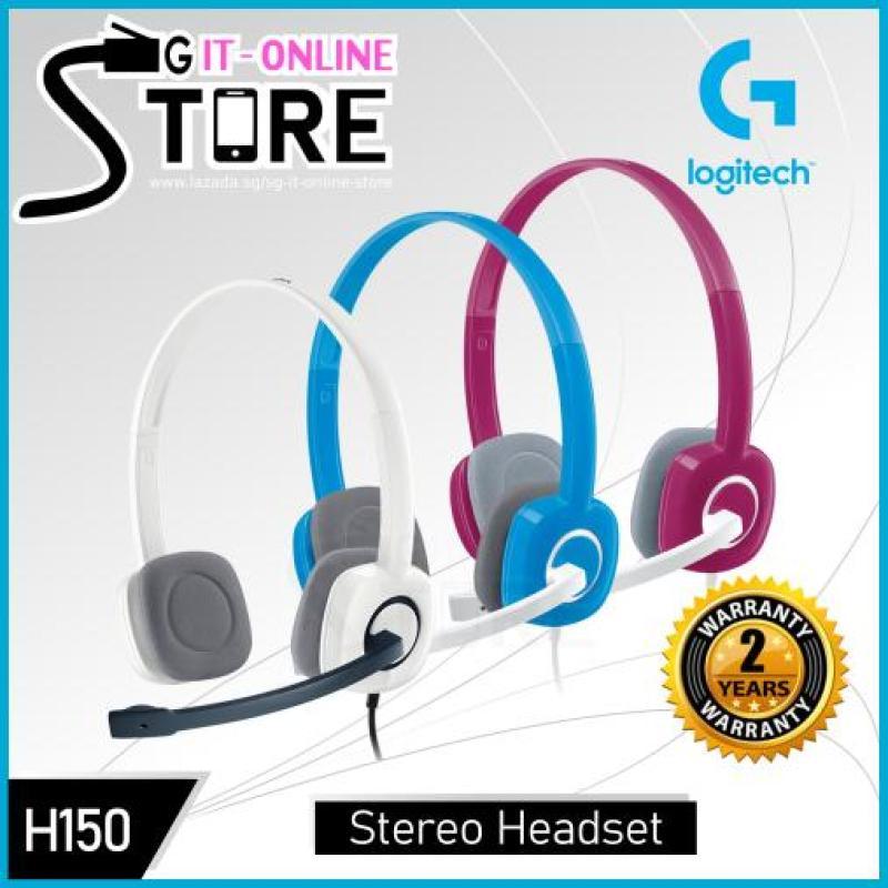 Logitech Stereo Headset H150 Sky Blue / Cloud White / Fuchsia Pink Singapore