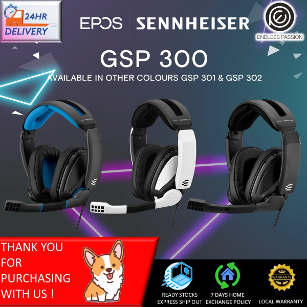 EPOS Sennheiser GSP 300 Gaming Headset with Noise-Cancelling Mic, Flip-to-Mute, Comfortable Memory Foam Ear Pads, Headphones for PC, Mac, Xbox One, PS4, Nintendo Switch, and Smartphone compatible
