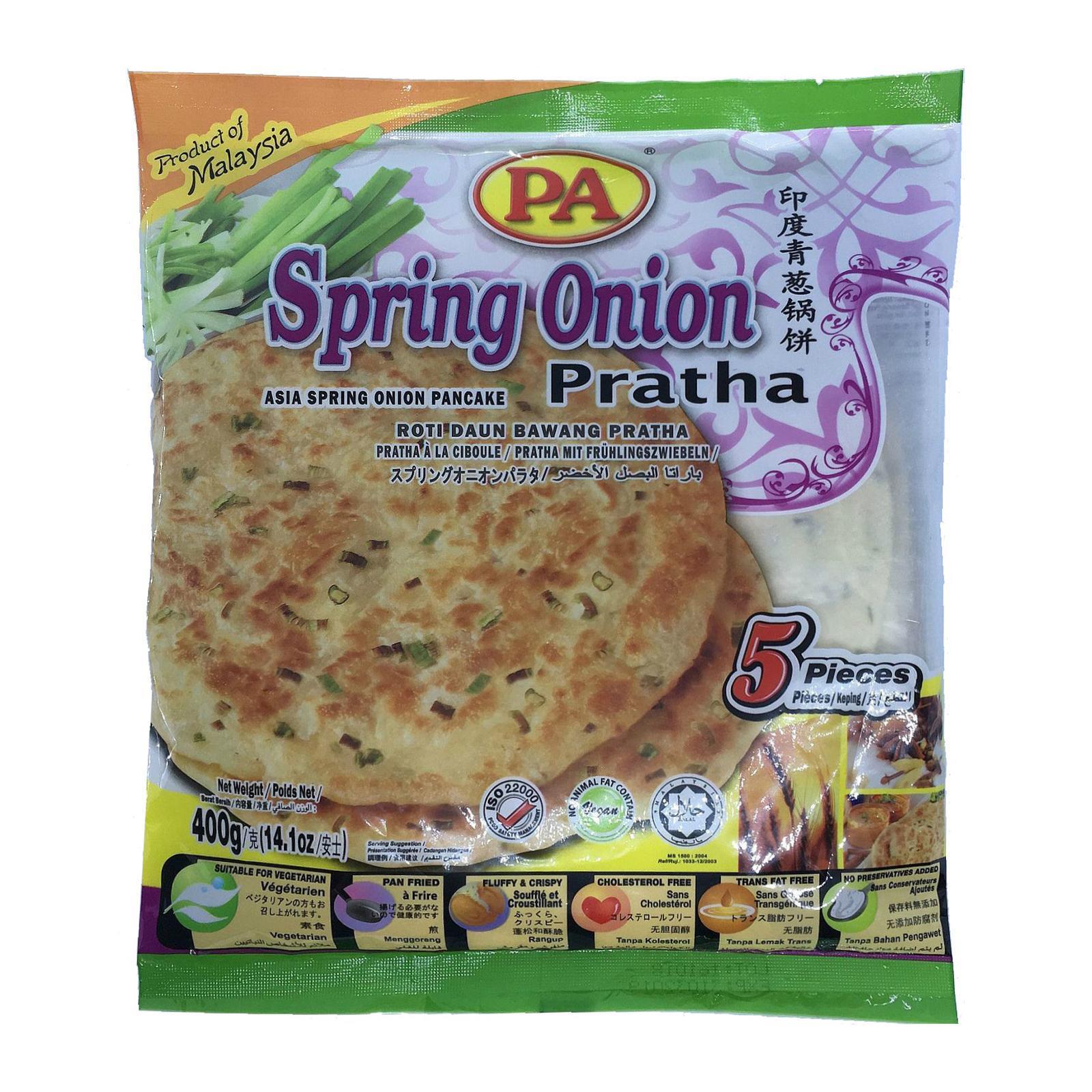 PA Spring Onion Prata - Frozen