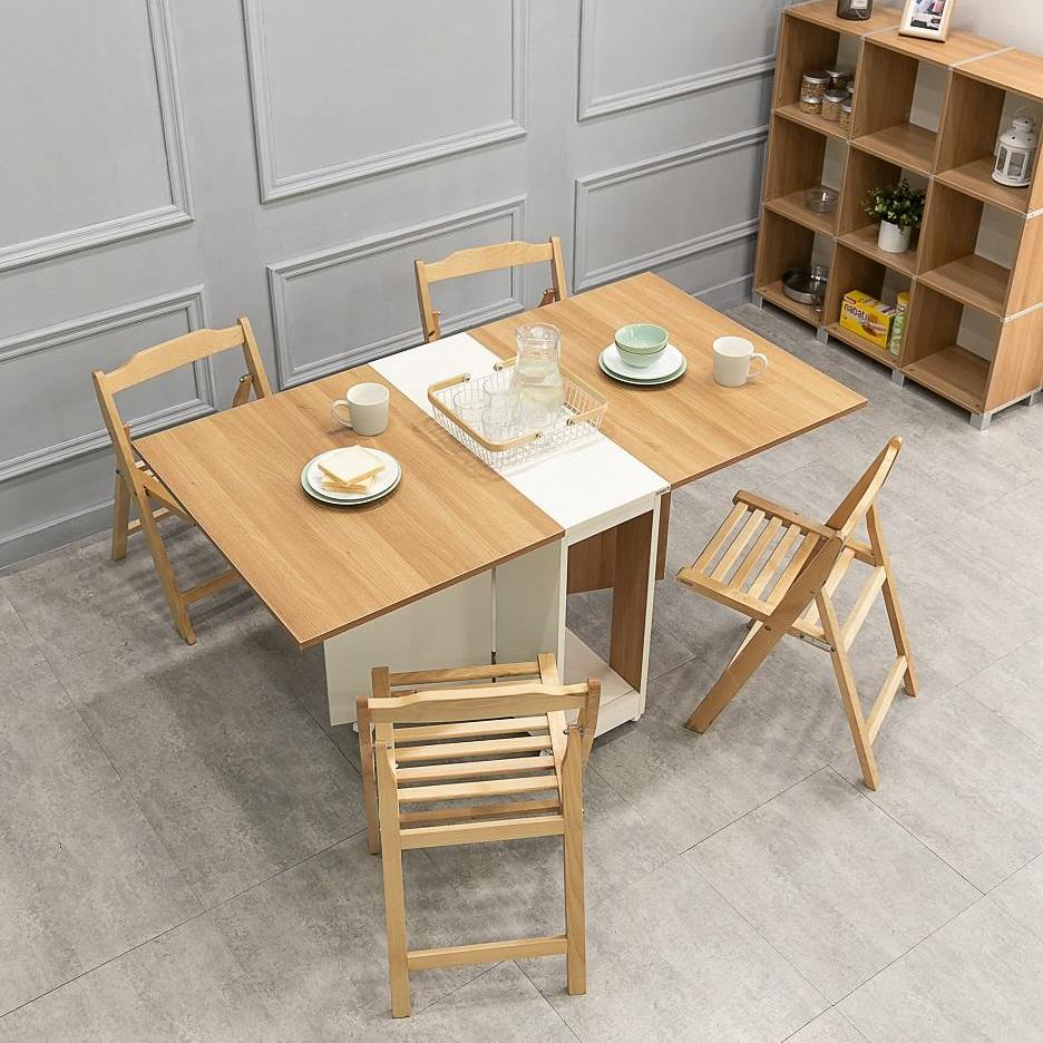 Space Saver ! Miss3 Smart Dining Table with Solid Chair Set