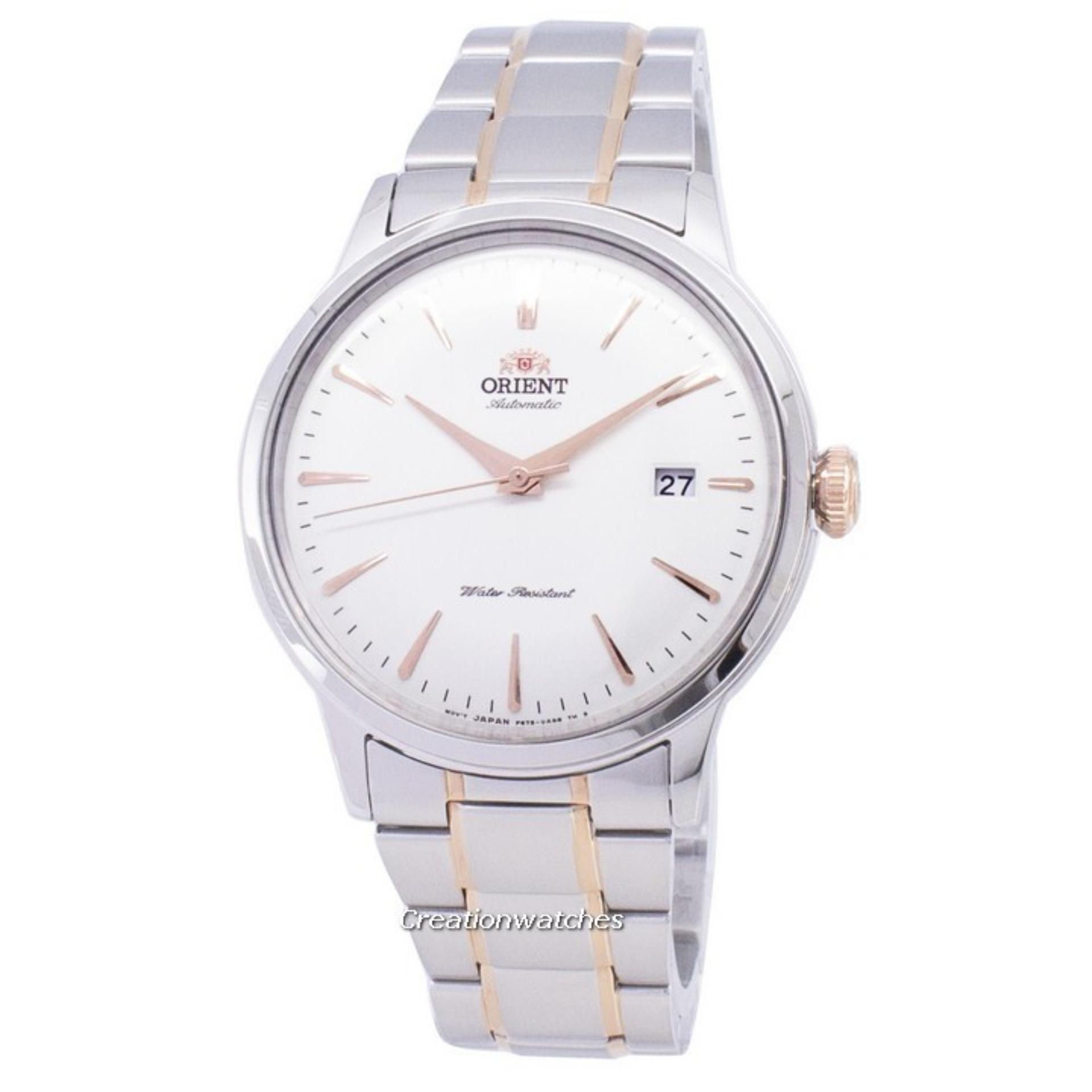 Orient Bambino Automatic Men's Two Tone Stainless Steel Bracelet Watch RA-AC0004S10B