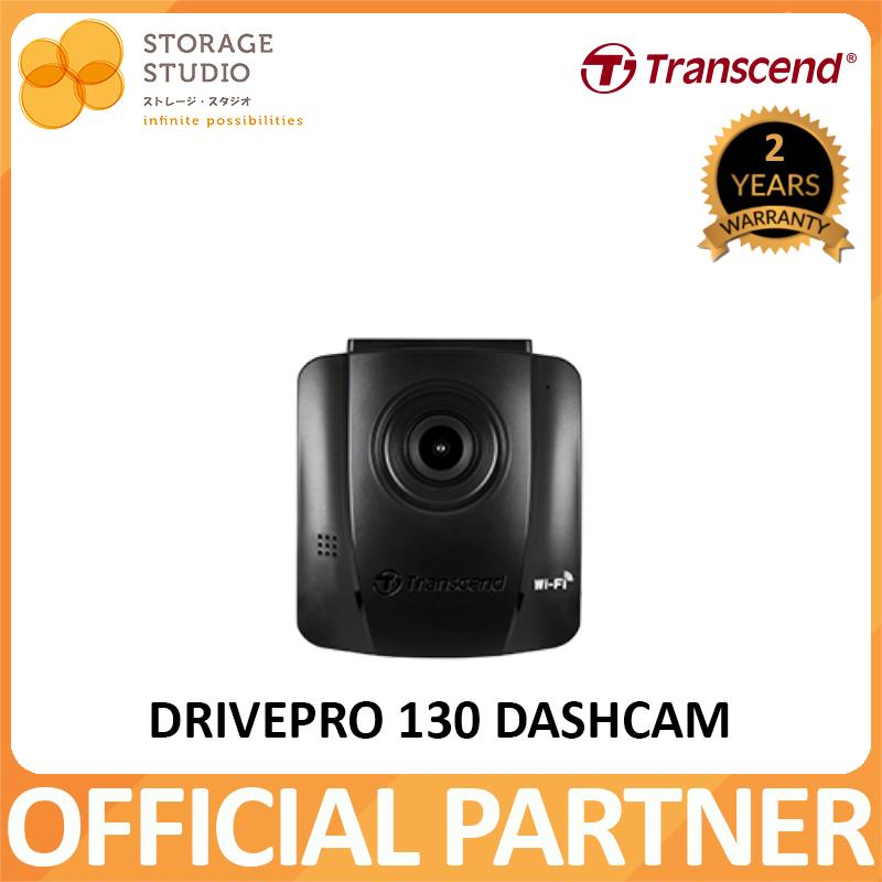Transcend DrivePro 130 DashCam - Adhesive Mount (Sony Exmor Sensor, Wifi, Parking Mode, LCD) . Local Singapore Warranty 2 Years. **TRANSCEND OFFICIAL PARTNER**