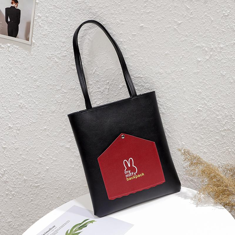 Bag Female 2019 New Style Versitile Fashion Tote Bag Students Class Portable Bag Soft Leather Large Capacity Shoulder Bag