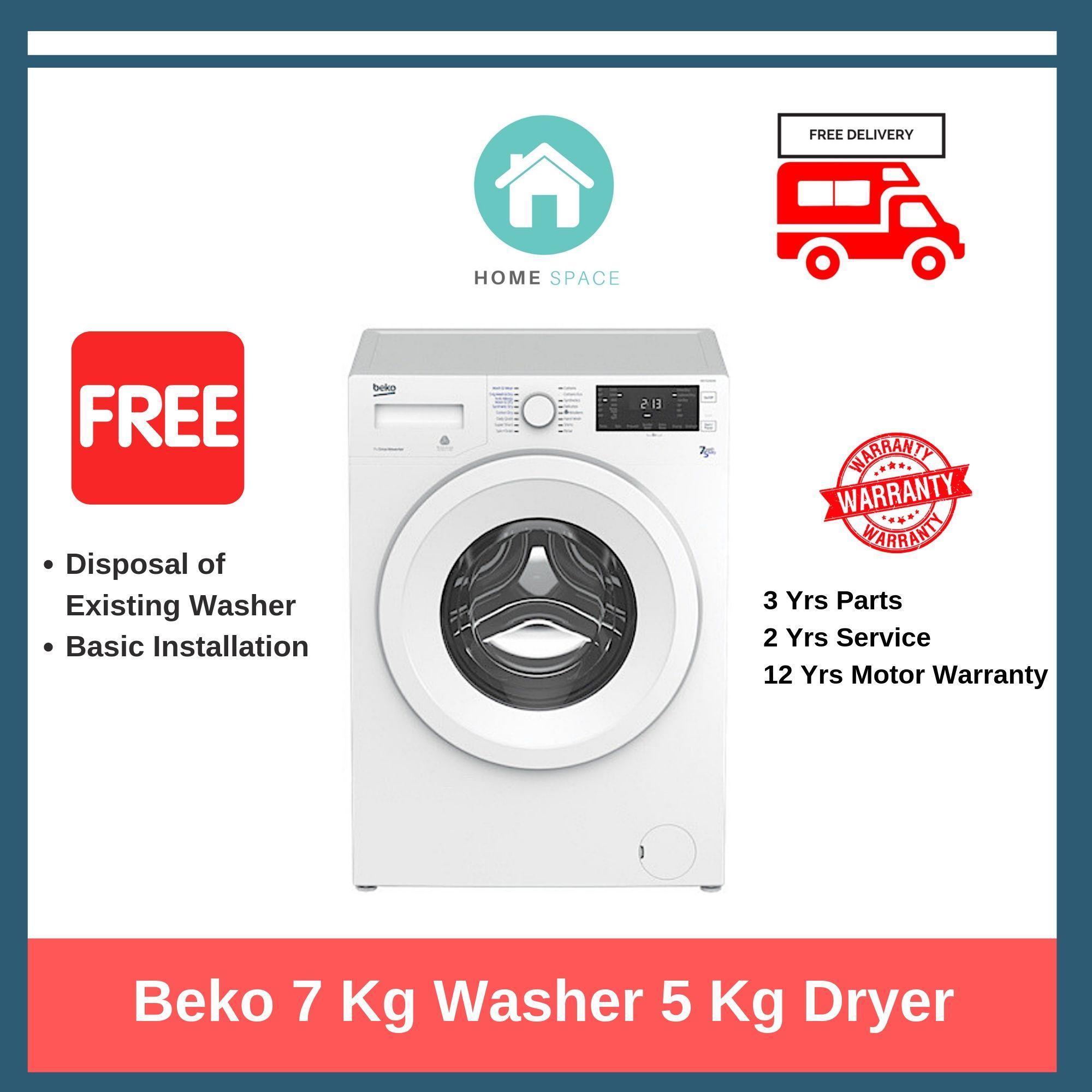 Beko 7kg Washer 5kg Dryer With Aquawave™ Technology + Free Delivery, Basic Installation.