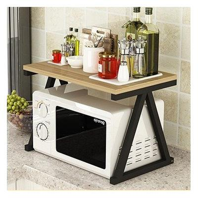 Microwave Rack Stand Kitchen Shelf Storage Oven Organizer (Triangle Frame)