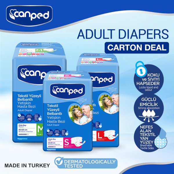 Buy CANPED Adult Diapers S, M, L Size Available CARTON DEAL Singapore