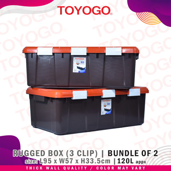 Toyogo Rugged Box 3 Clip (Bundle of 2) (8607) W21