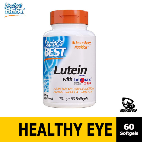 Buy Doctors Best Lutein Featuring Lutemax, Non-GMO, Gluten Free, Eye Health, 20 mg, 60 Softgels - Ultimate Sup Singapore