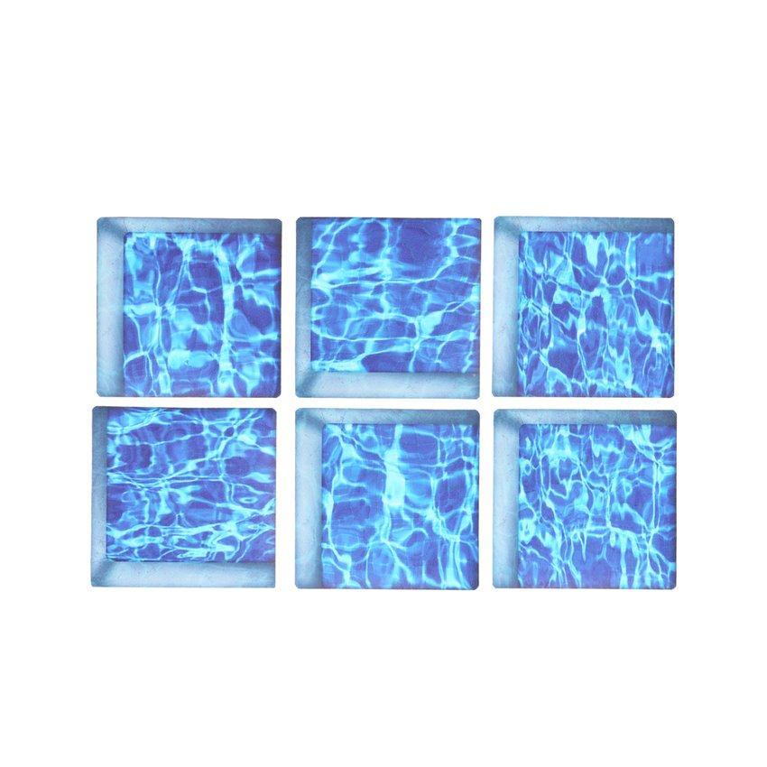 Hot Sale 6PCS 13*13cm 3D PVC Bathtub Sticker Anti Slip Waterproof Bathroom Decoration for Tile Dining Table Wall Stickers
