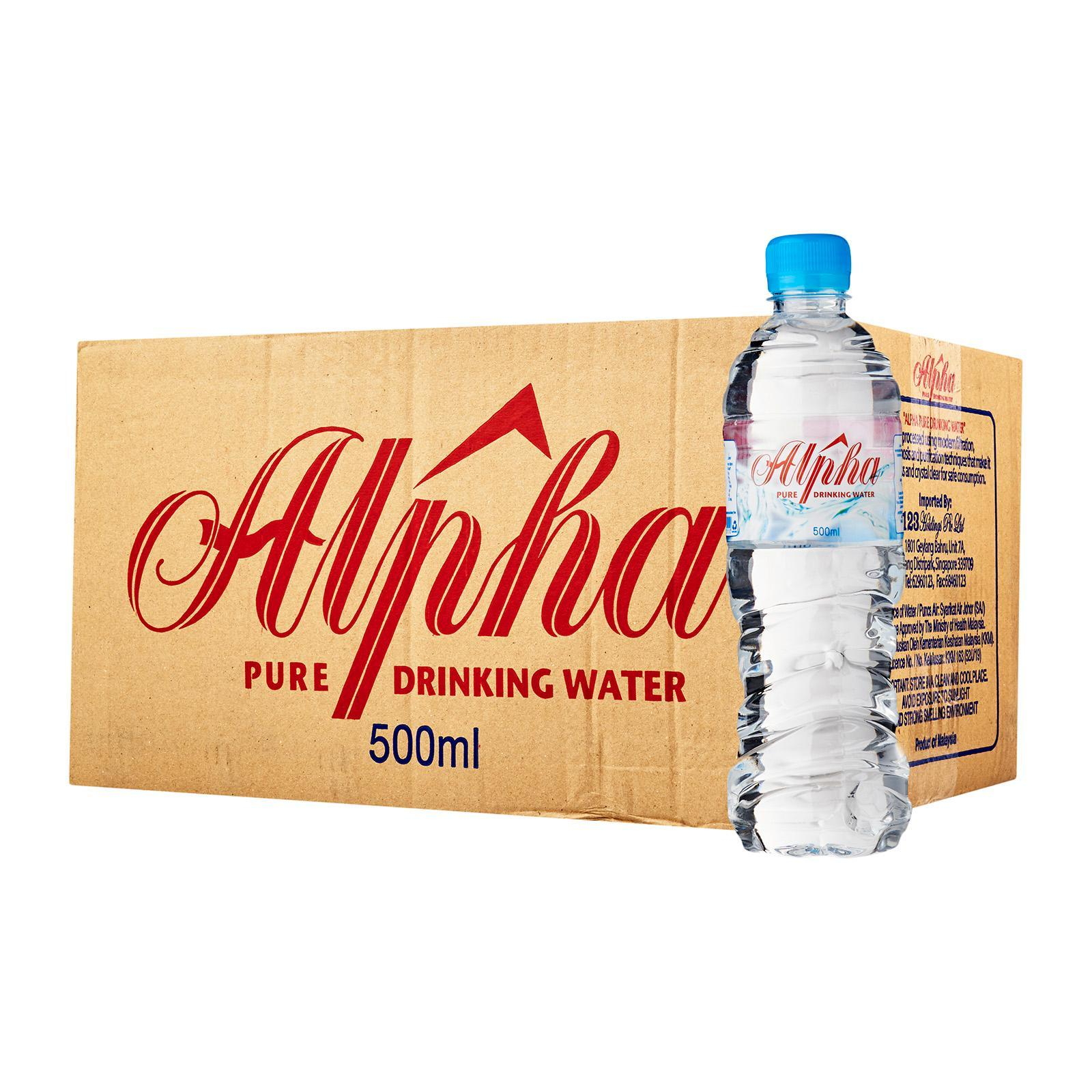 Alpha Pure Drinking Water 24 x 500 ML - Case