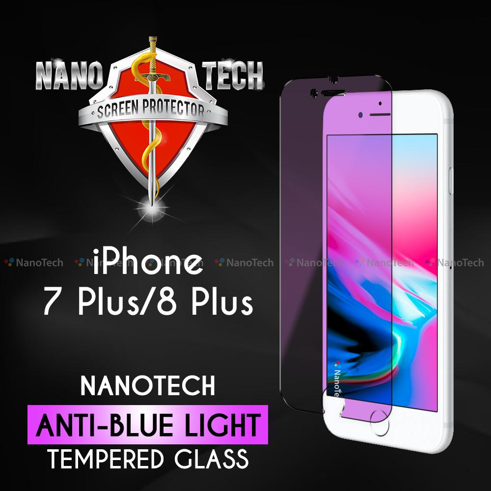 Nanotech iPhone 7 Plus/8 Plus Anti-blue light Tempered Glass Screen Protector [Non-full Coverage]